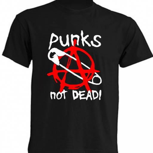 CAMISETA PUNKS NOT DEAD