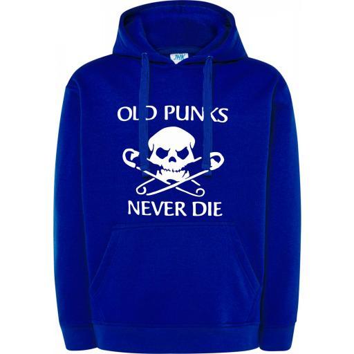 SUDADERA CAPUCHA OLD PUNKS NEVER DIE [2]
