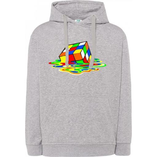Sudadera Capucha Cubo Rubik disuelto