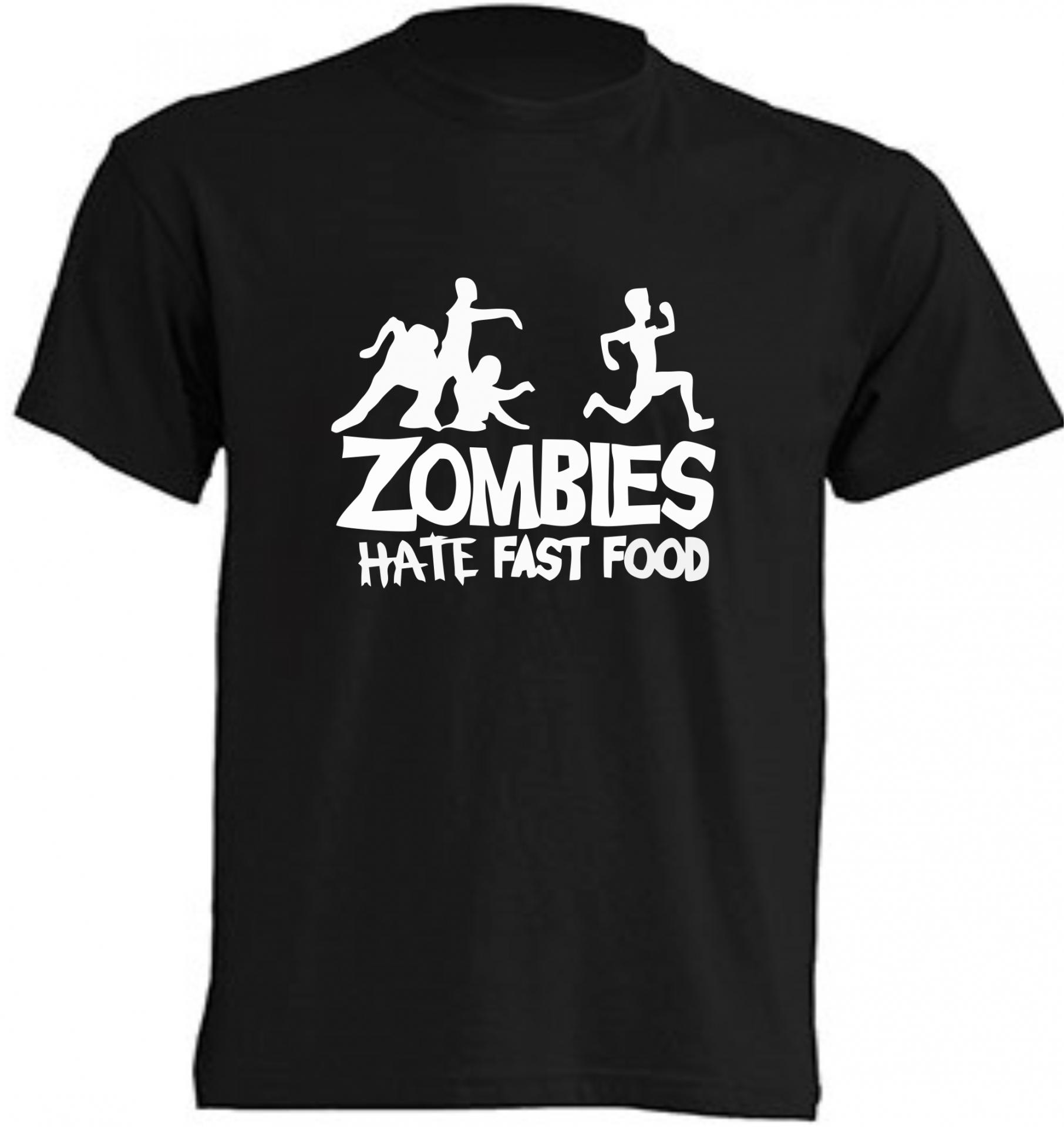 CAMISETA ZOMBIES HATE FAST FOOD