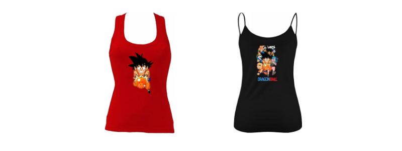 Camisetas de goku para mujeres