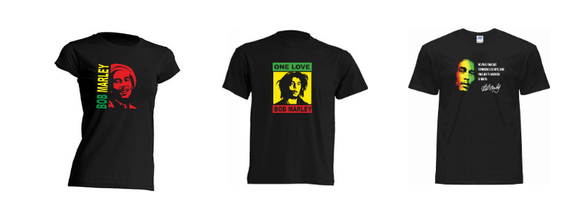 Camisetas Bob Marley