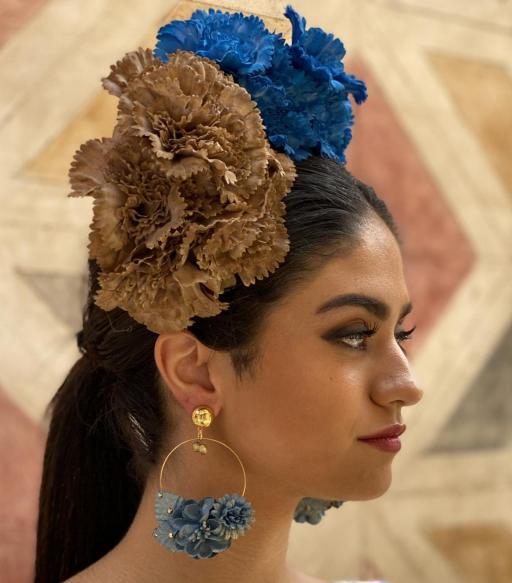 Pendientes de flamenca señora