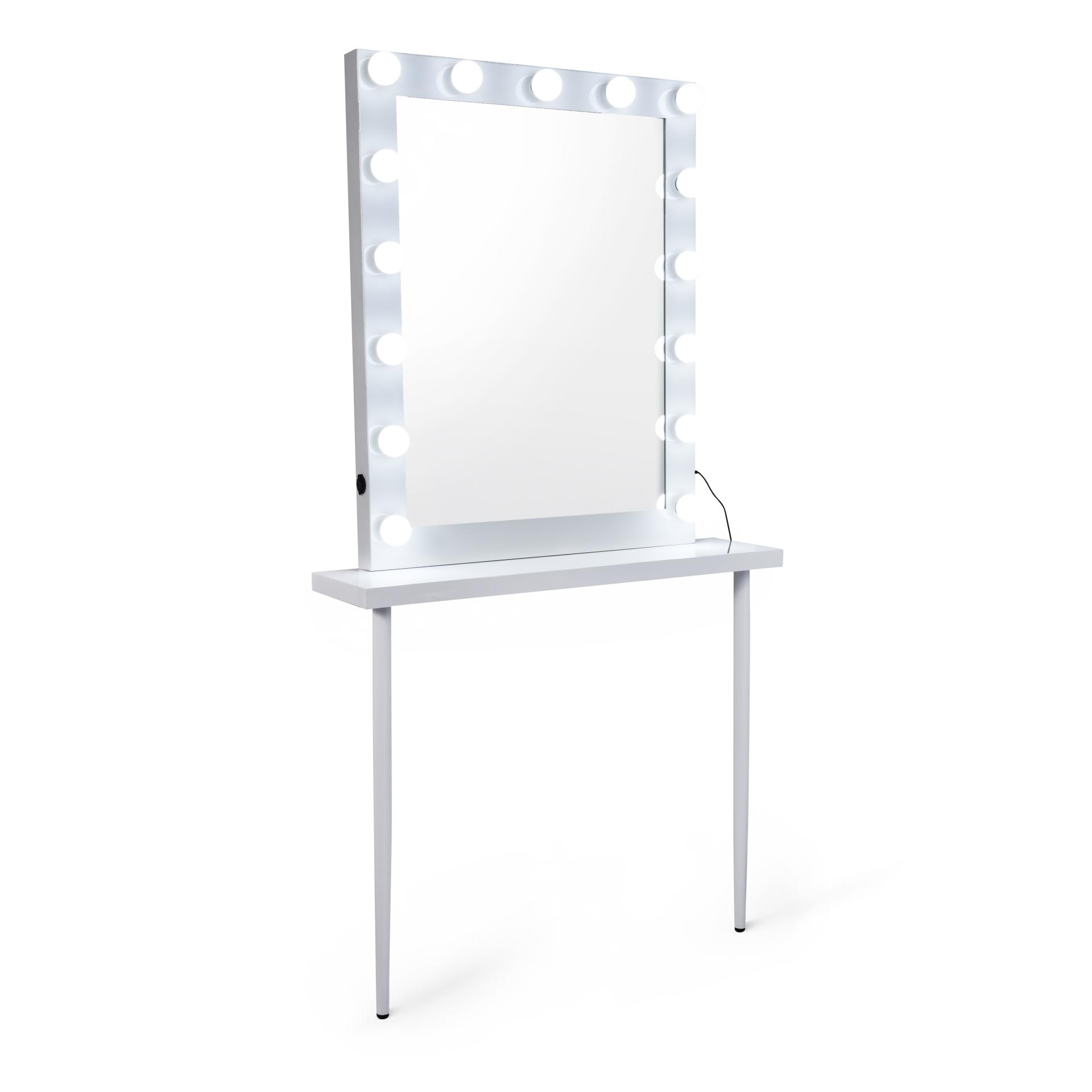 espejo maquillaje + mesa