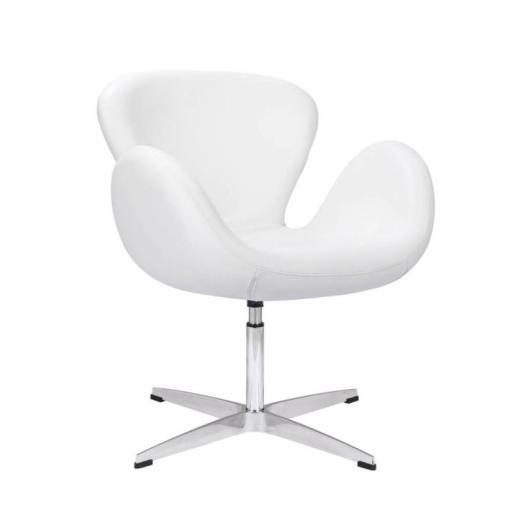 sillón de espera blanco