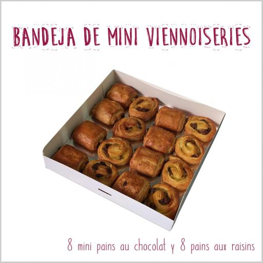 Bandeja de mini viennoiseries