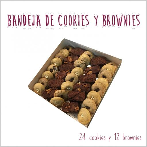 Bandeja de mini cookies & mini brownies