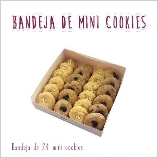 Bandeja de mini cookies