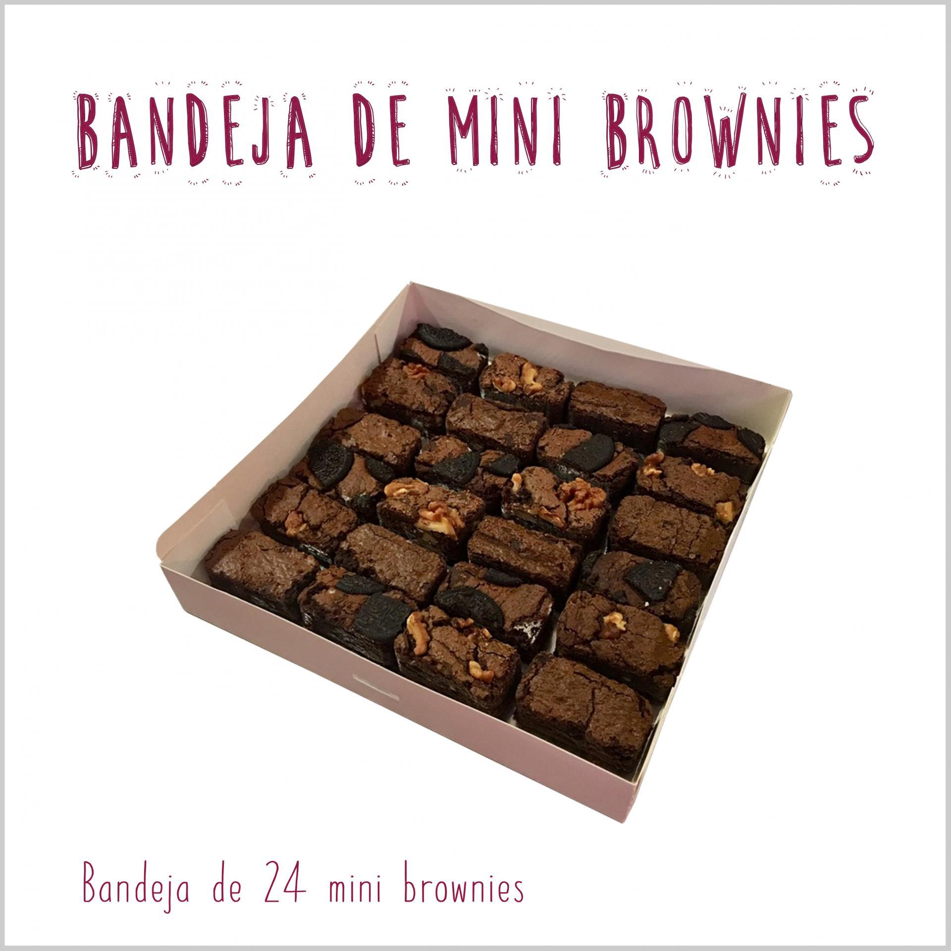 Bandeja de mini brownies