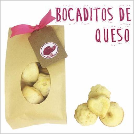Bocaditos de Bizcocho Natural con un toque de queso