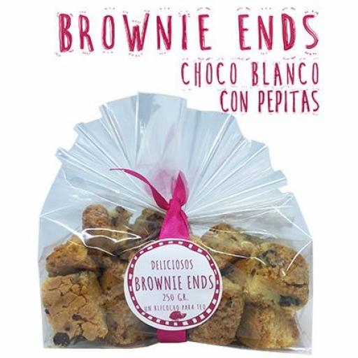 Brownie Ens Chocolate Blanco con pepitas