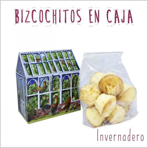 Casita de Bocaditos de Bizcocho Natural con un toque de queso