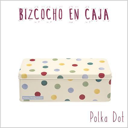 Bizcocho en caja Polka Dot