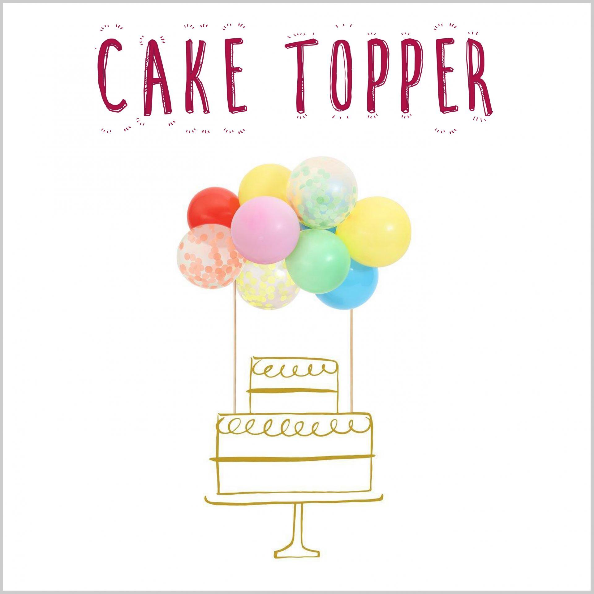 Cake Topper Globos