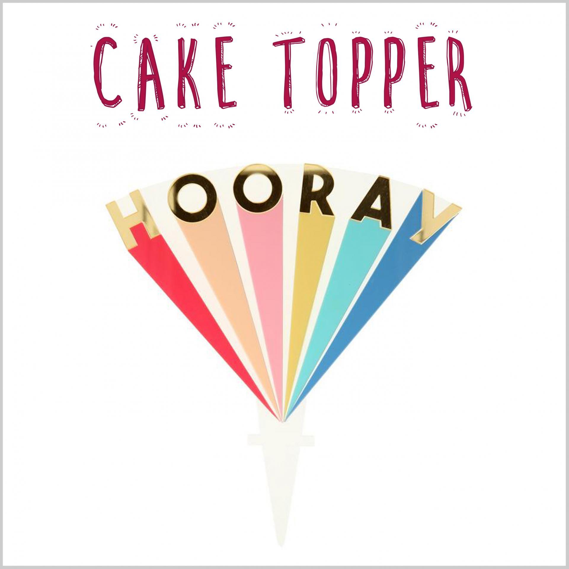 Cake Topper Hooray