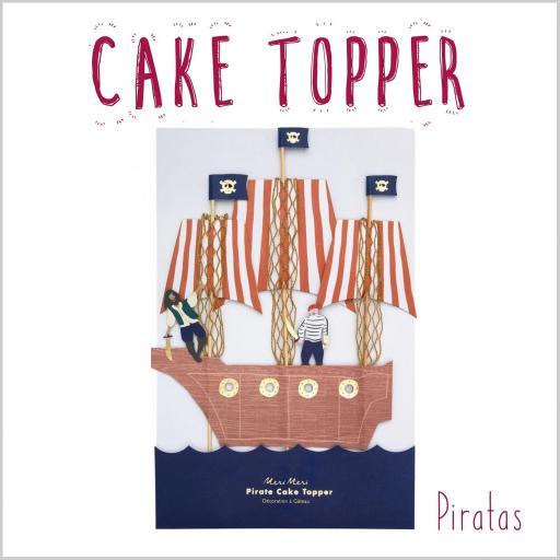 Cake Topper Barco Pirata
