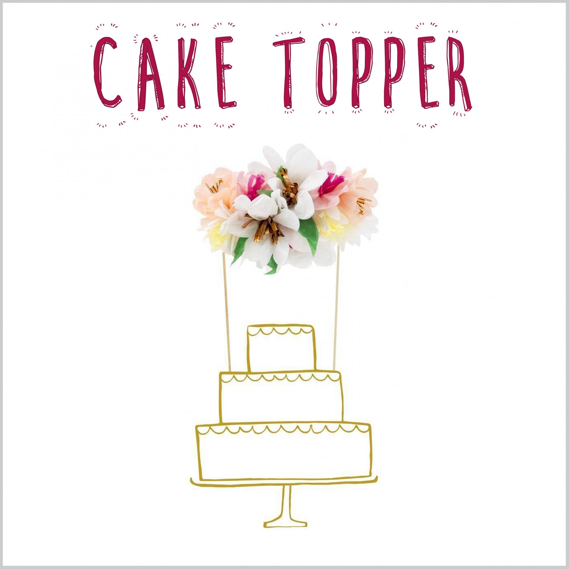 Cake Topper Flores