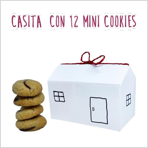 Casita con 12 mini cookies