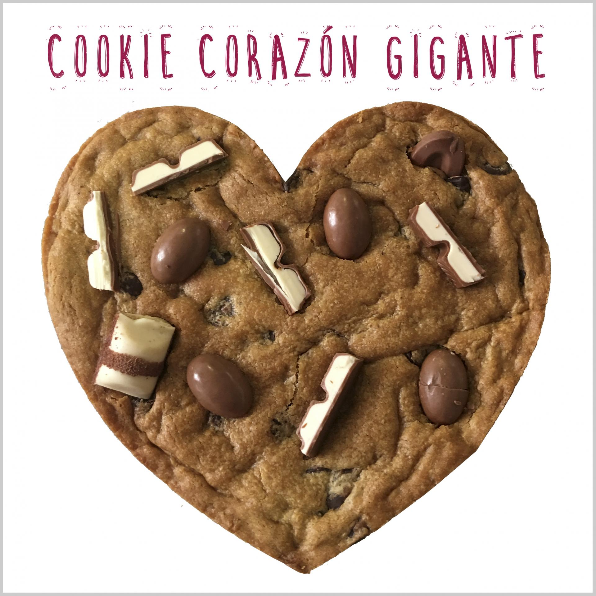 Heart Choc Chip Cookie