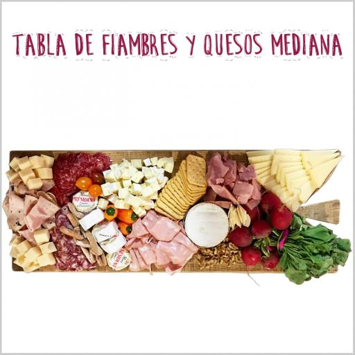 Tabla mixta de Fiambres y Quesos Mediana