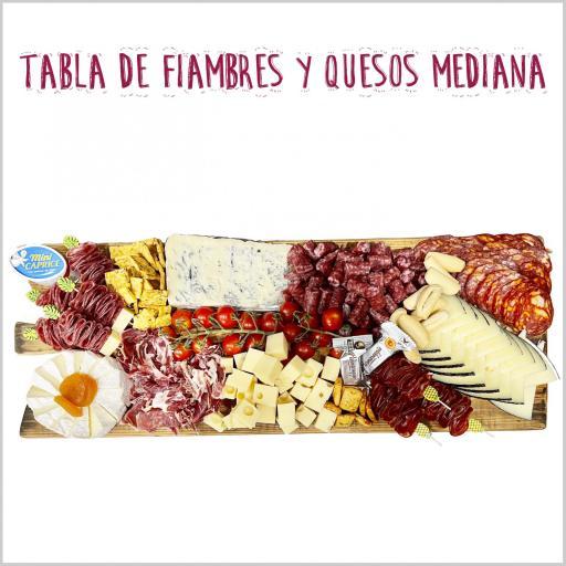 Tabla mixta de Fiambres y Quesos Mediana