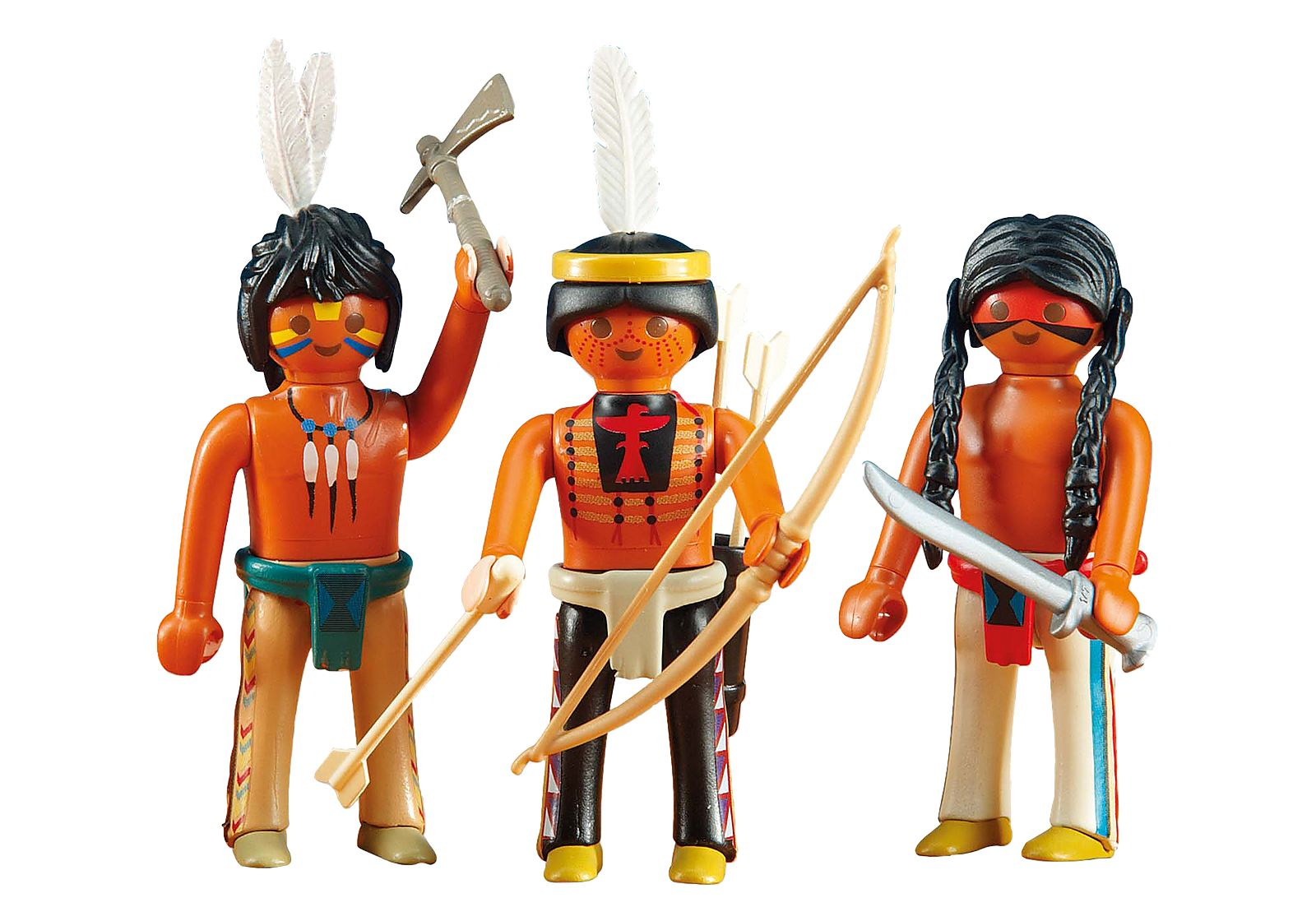 PLAYMOBIL 6272 TRES  INDIOS SIOUX  OESTE WESTERN