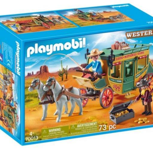 PLAYMOBIL 70013 DILIGENCIA  WESTERN OESTE