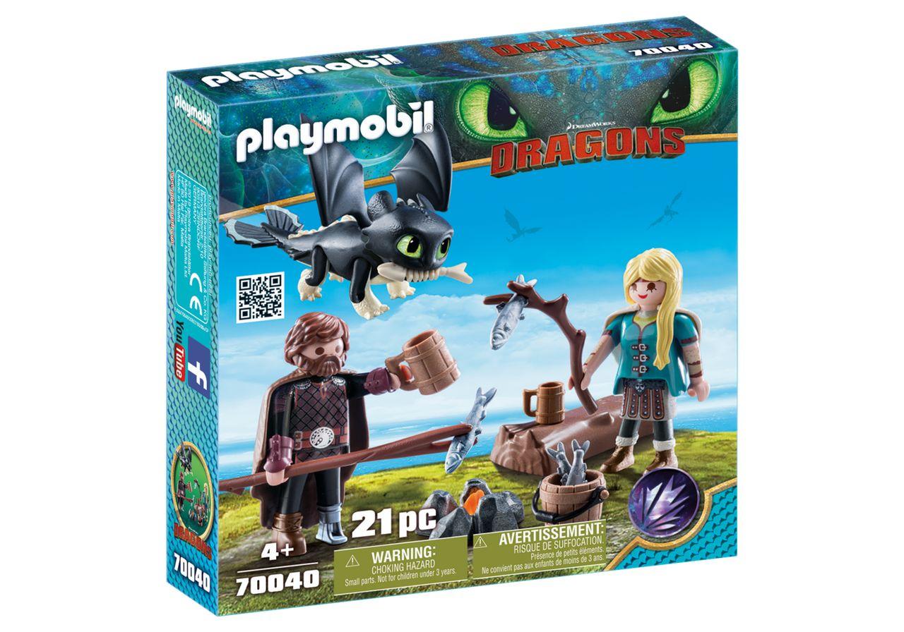 PLAYMOBIL 70040 HIPO Y ASTRID CON BEBE DRAGON (DRAGONS)