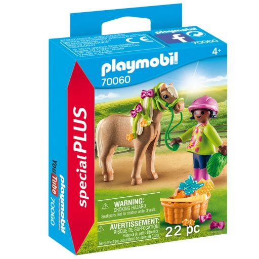 PLAYMOBIL 70060 CHICA CON PONY