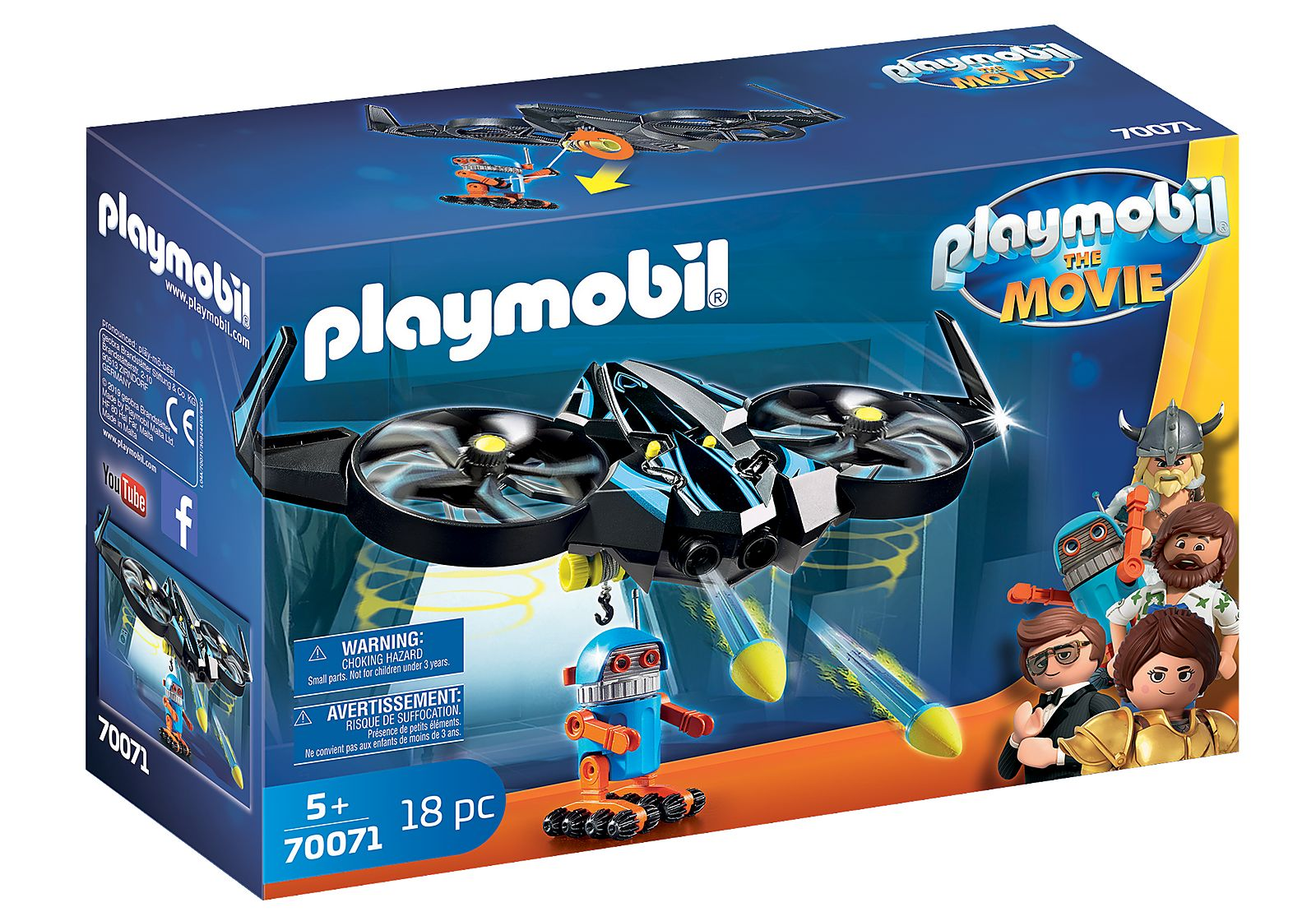 PLAYMOBIL 70071  THE MOVIE ROBOTITRON CON DRON