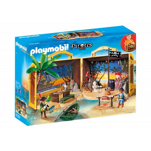 PLAYMOBIL 70150 ISLA PIRATA MALETIN