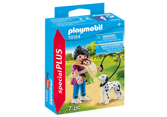 PLAYMOBIL 70154 MAMA CON BEBE Y PERRO