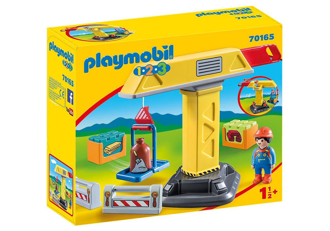 PLAYMOBIL 70165 1.2.3 GRUA CONSTRUCCION