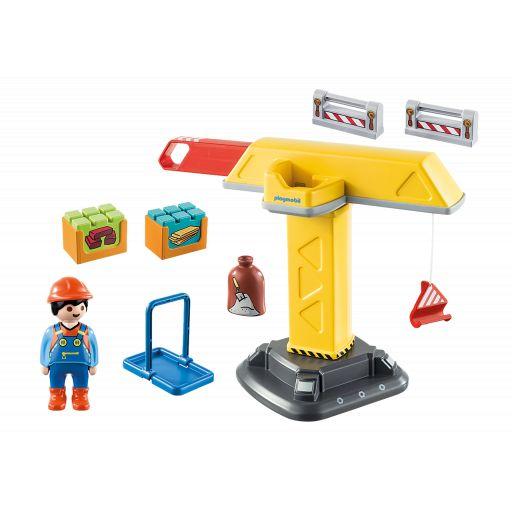 PLAYMOBIL 70165 1.2.3 GRUA CONSTRUCCION [1]