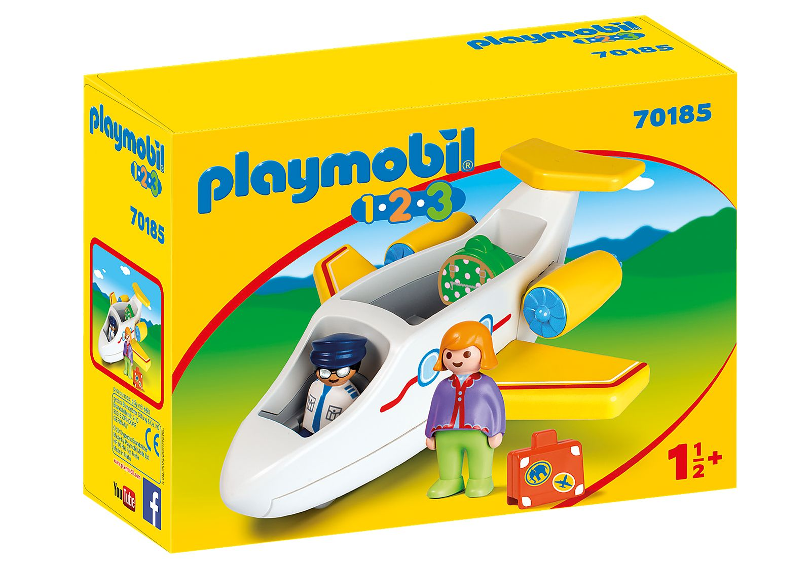 PLAYMOBIL 70185 1.2.3.  AVION DE PASAJEROS