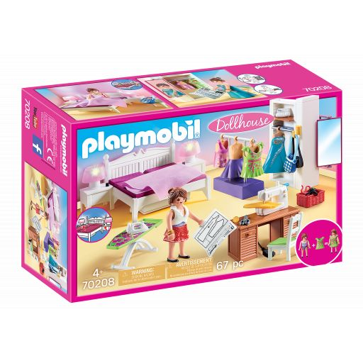 PLAYMOBIL 70208 DORMITORIO CON RINCON DE COSTURERA