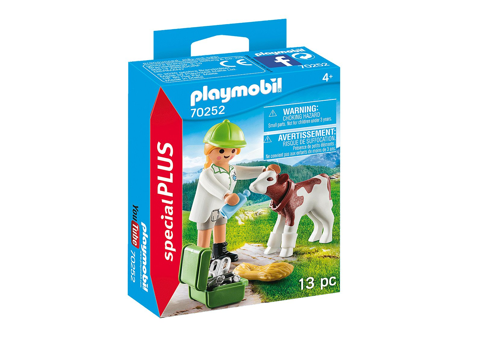 PLAYMOBIL 70252 VETERINARIA CON TERNERO