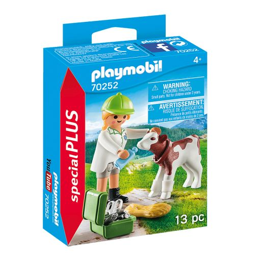 PLAYMOBIL 70252 VETERINARIA CON TERNERO [0]