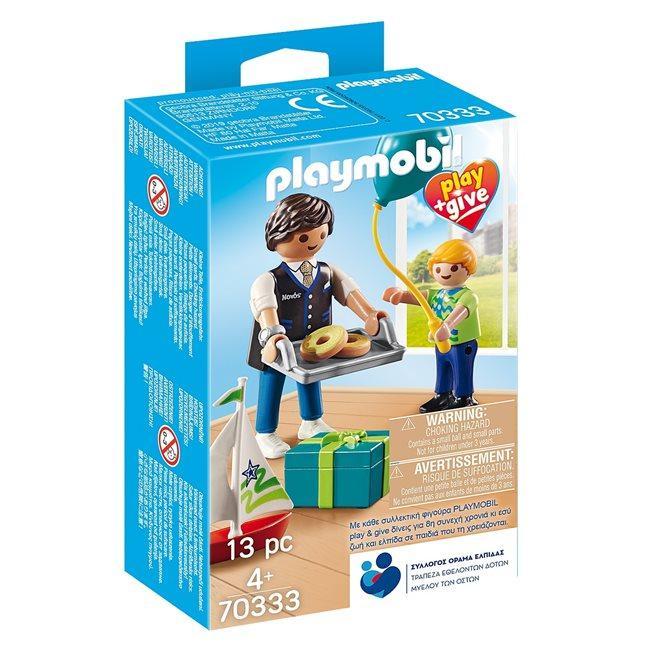 PLAYMOBIL 70333 PLAY & GIVE  PADRINO CON NIÑO (EDICION GRIEGA)