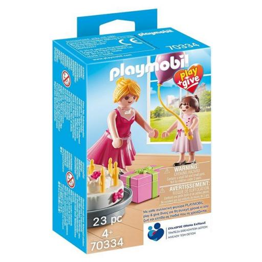 PLAYMOBIL 70334 PLAY & GIVE  MADRINA CON NIÑA (EDICION GRIEGA)