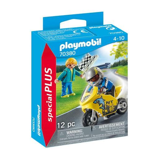 PLAYMOBIL 70380 SPECIAL NIÑOS CON MOTO DE CARRERAS