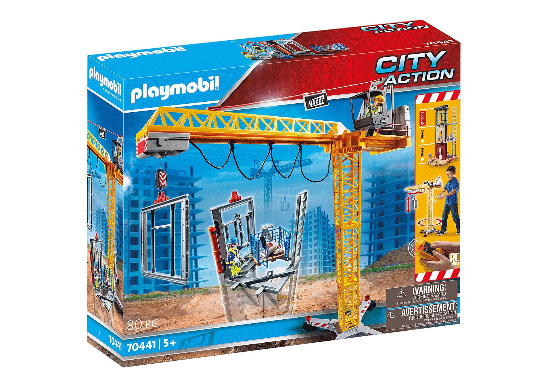 PLAYMOBIL 70441 GRUA CONSTRUCCION RC