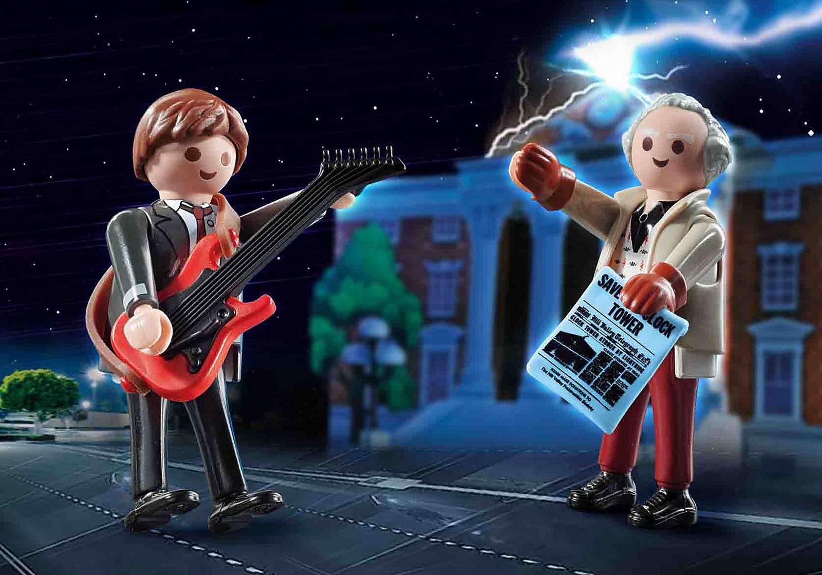 PLAYMOBIL 70459 Regreso al futuro Marty McFly y Dr. Emmett Brown  Back to the Future