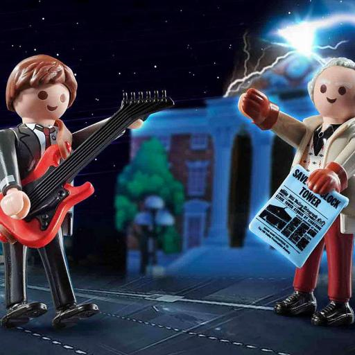 PLAYMOBIL 70459 Regreso al futuro Marty McFly y Dr. Emmett Brown  Back to the Future