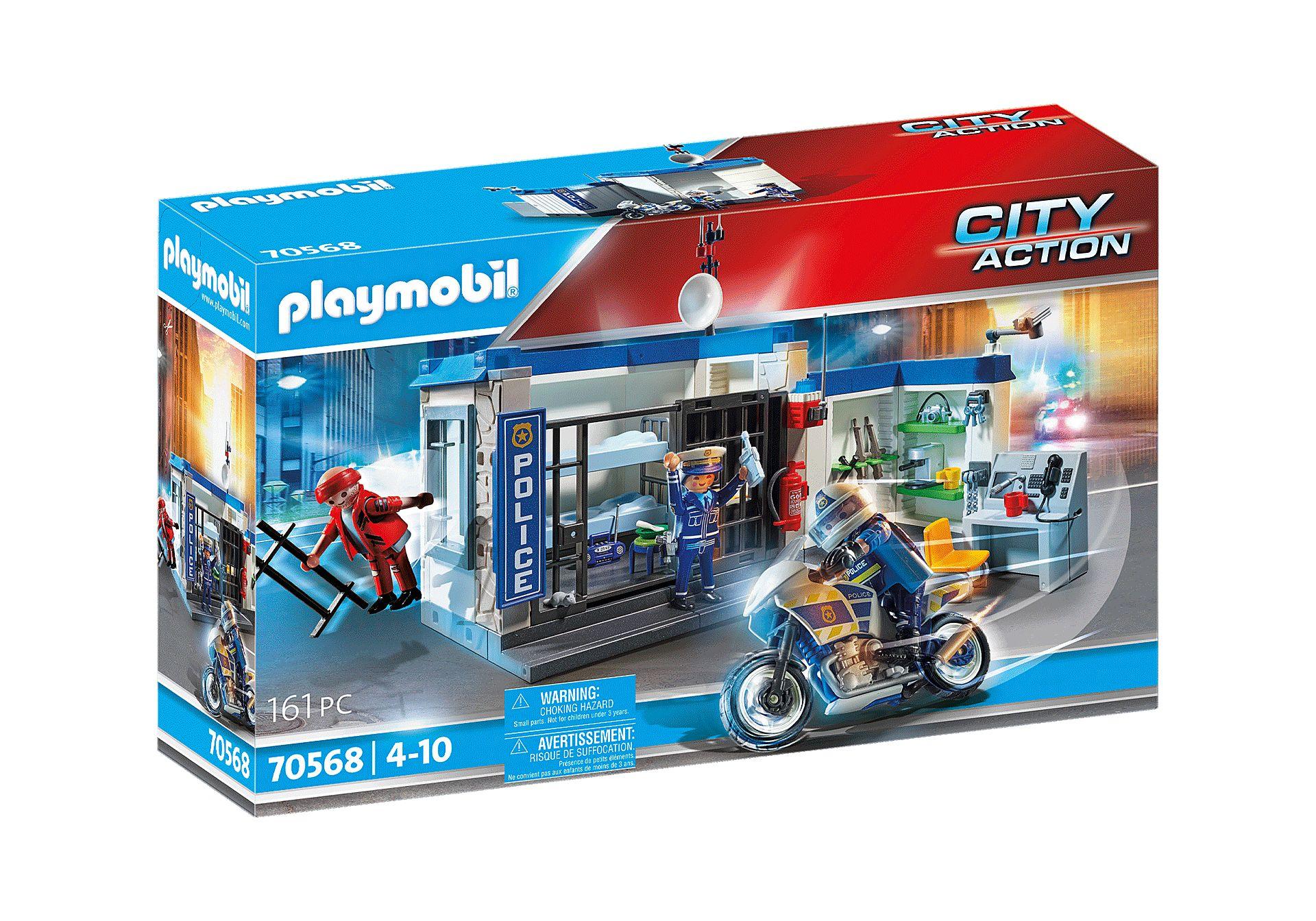 PLAYMOBIL 70568 POLICIA ESCAPE DE LA PRISION