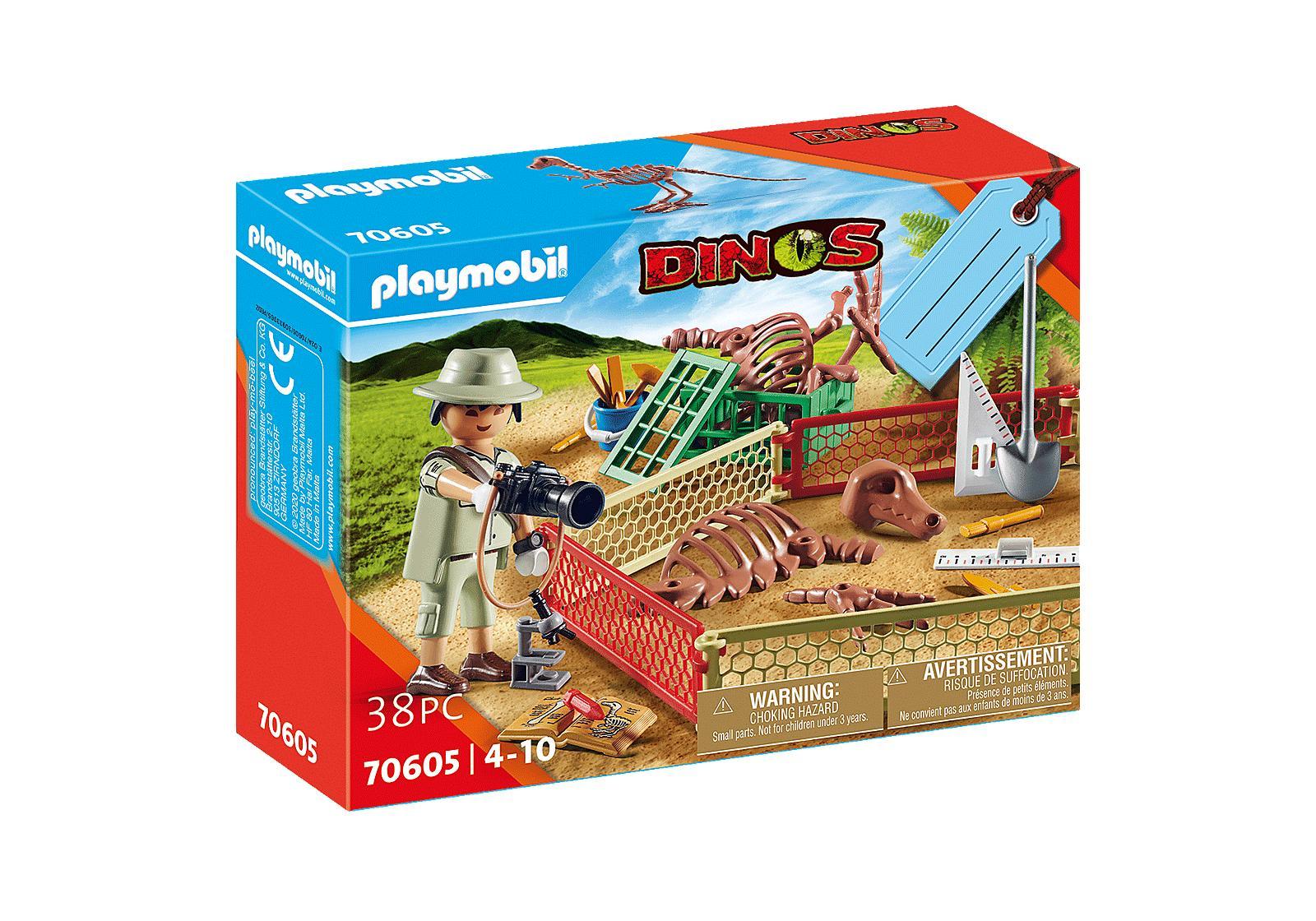 PLAYMOBIL 70605 SET PALEONTOLOGO DESENTERRANDO DINOSAURIO