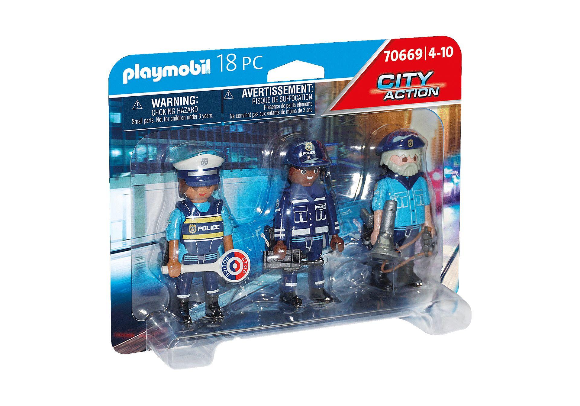 PLAYMOBIL 70669 SET DE FIGURAS DE POLICIA