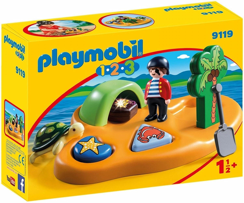 PLAYMOBIL 9119 1.2.3.  ISLA PIRATA