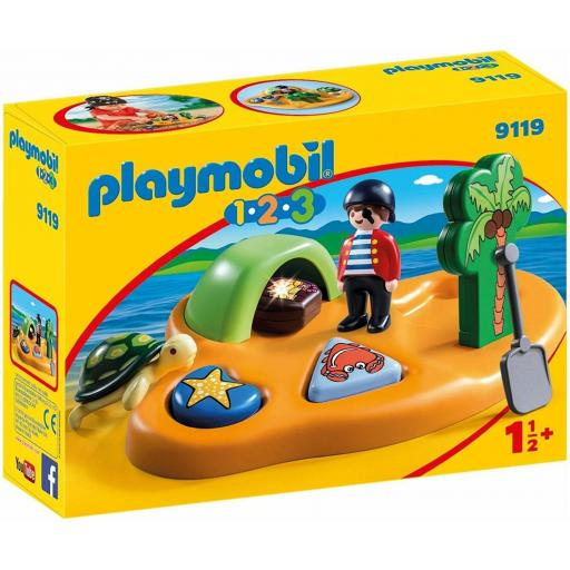PLAYMOBIL 9119 1.2.3.  ISLA PIRATA