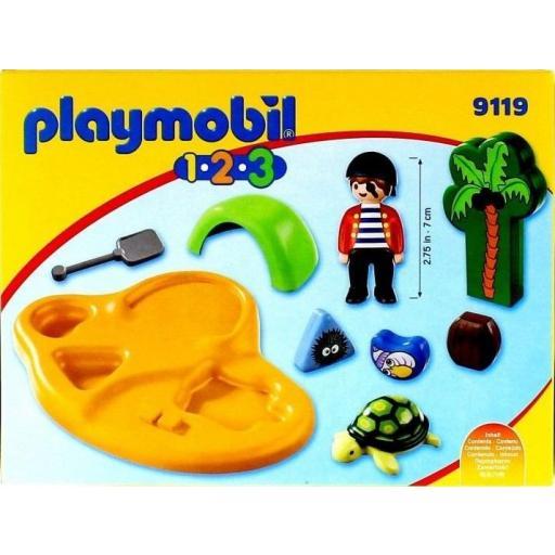 PLAYMOBIL 9119 1.2.3.  ISLA PIRATA [1]